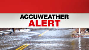 a sign on the side of the water: AccuWeather forecast in Tri-State area