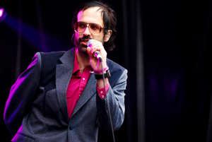 David Berman of Silver Jews performing on stage during the Primavera Sound Festival on May 31, 2008.