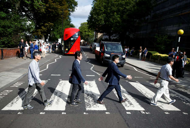 Beatles fans come together for 50th anniversary of Abbey