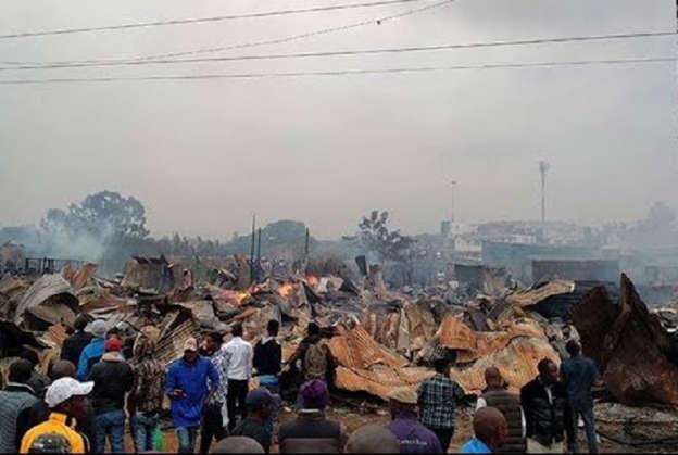 Fire razes Githurai furniture shops