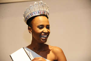 PRETORIA, SOUTH AFRICA - AUGUST 09: Zozibini Tunzi after being crowned Miss South Africa 2019 at the Time Square Sun Arena on August 09, 2019 in Pretoria, South Africa. Tunzi, 25, from Tsolo in the Eastern Cape, revealed she wants to use her reign to give hope. (Photo by Oupa Bopape/Gallo Images via Getty Images)