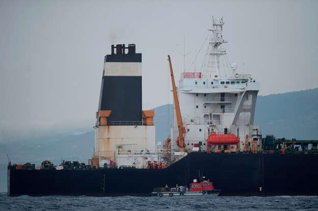 Iran tanker heads to Greece, U S  warns against helping vessel