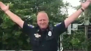Retiring Police Officer goes 'Footloose' for final sign-off