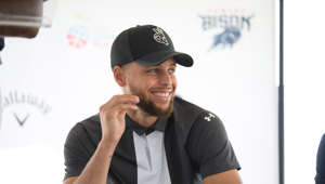 WASHINGTON, DC - AUGUST 19: Stephen Curry launches first NCAA Division 1 Golf Team for Howard University at G C Langston & Driving Range on August 19, 2019 in Washington, DC. (Photo by Brian Stukes/Getty Images)