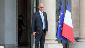 French Education and Youth Affairs Minister Jean-Michel Blanquer poses as he leaves the Elysee presidential palace following the weekly cabinet meeting, on August 21, 2019 in Paris.