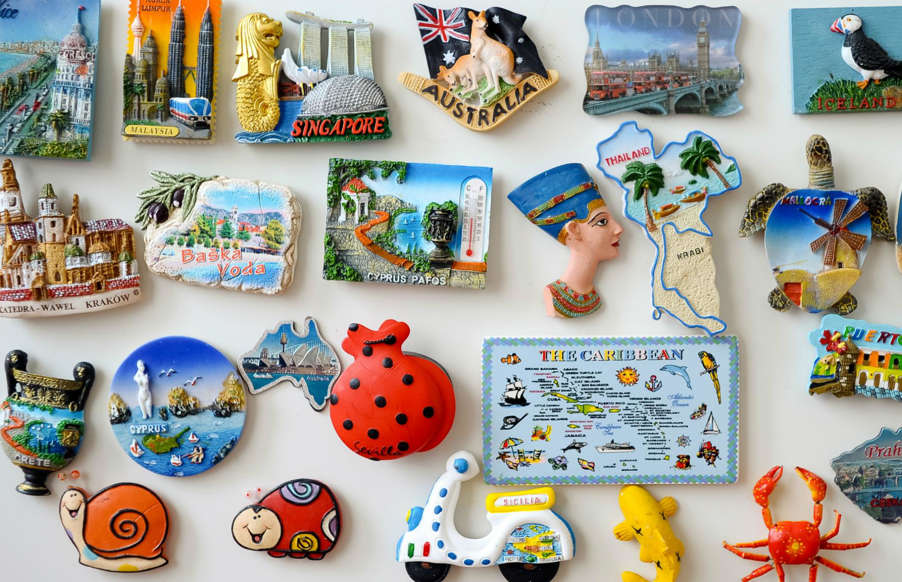 Slide 6 of 25: Whatever happened to fridge magnets? Many of us can remember being tasked with picking out a novelty magnet for the grandparents when off at the beach or in the country. Taking pride of place on the kitchen fridge, these colorful (and adorably tacky) souvenirs are a reminder of past trips and quality time spent with friends and family. Such is the breadth of some of these collections, it's a small wonder the fridge door doesn't fall off...