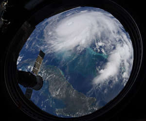 NASA astronaut Christine Koch snapped this image of Hurricane Dorian as the International Space Station on Monday, September 2, 2019 orbits about 200 miles above Earth.
