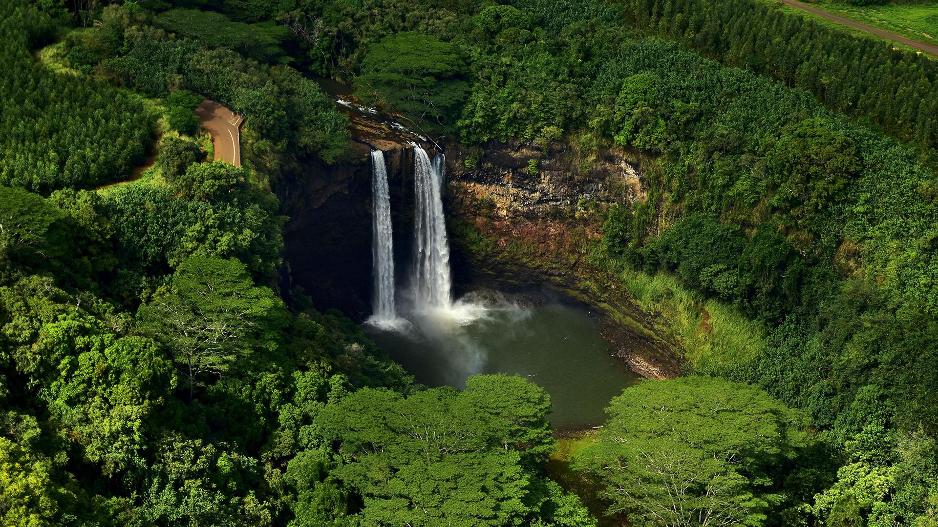 Slide 22 of 41: Wailua Falls on Kauai island, Hawaii