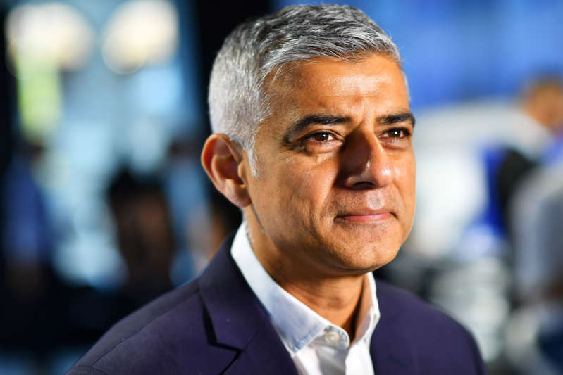 Mayor of London Sadiq Khan poses during an interview with Reuters at an event to promote the start of London Tech Week, in London, Britain, June 10, 2019.  REUTERS/Dylan Martinez