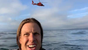Plane crash survivors record Coast Guard rescue