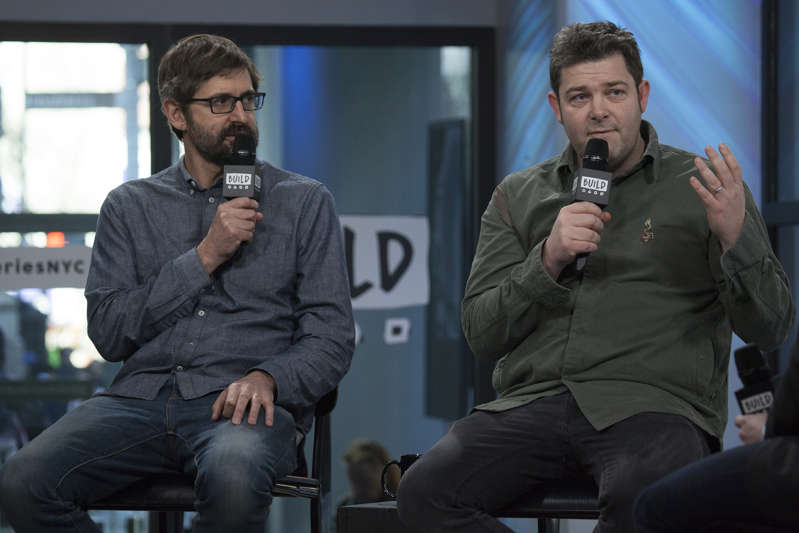 "Louis Theroux and John Downer attend Build Series to discuss ""My Scientology Movie"" at Build Studio on March 9, 2017 in New York City."