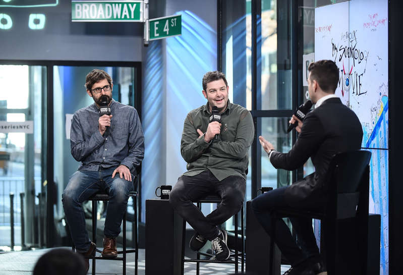 Louis Theroux and John Dower attend the Build Series to discuss the documentary 'My Scientology Movie' at Build Studio on March 9, 2017 in New York City.