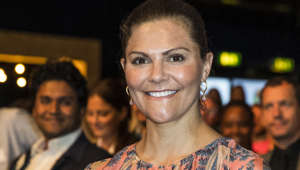 STOCKHOLM, SWEDEN - JUNE 13: Crown Princess Victoria of Sweden attends the EAT Stockholm Food Forum at Annexet on June 13, 2019 in Stockholm, Sweden. (Photo by Michael Campanella/Getty Images)