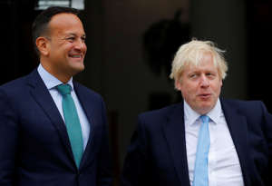 Britain's Prime Minister Boris Johnson meets with Ireland's Prime Minister (Taoiseach) Leo Varadkar in Dublin, Ireland, September 9, 2019. REUTERS/Phil Noble