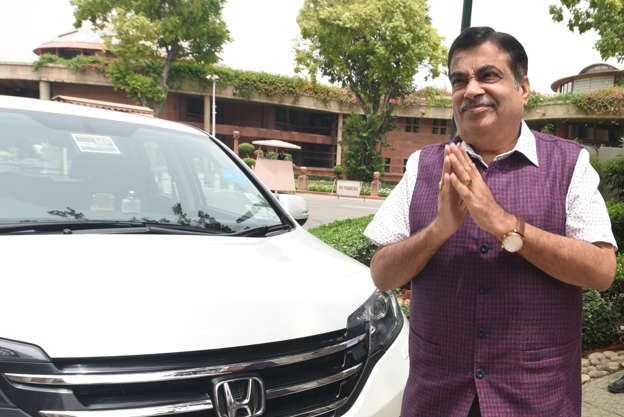 Nitin Gadkari accepted that his car was also fined for overspeeding.