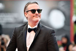 "VENICE, ITALY - SEPTEMBER 07:  Joaquin Phoenix of ""The Joker"" walks the red carpet ahead of the closing ceremony of the 76th Venice Film Festival at Sala Grande on September 07, 2019 in Venice, Italy. (Photo by Theo Wargo/Getty Images)"