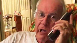 Grandfather's Donald Duck voice annoys away telemarketer