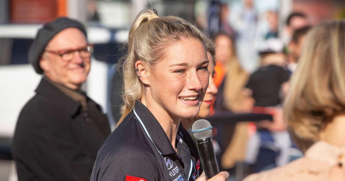 I'm just glad they got my tan right': AFLW star Tayla Harris