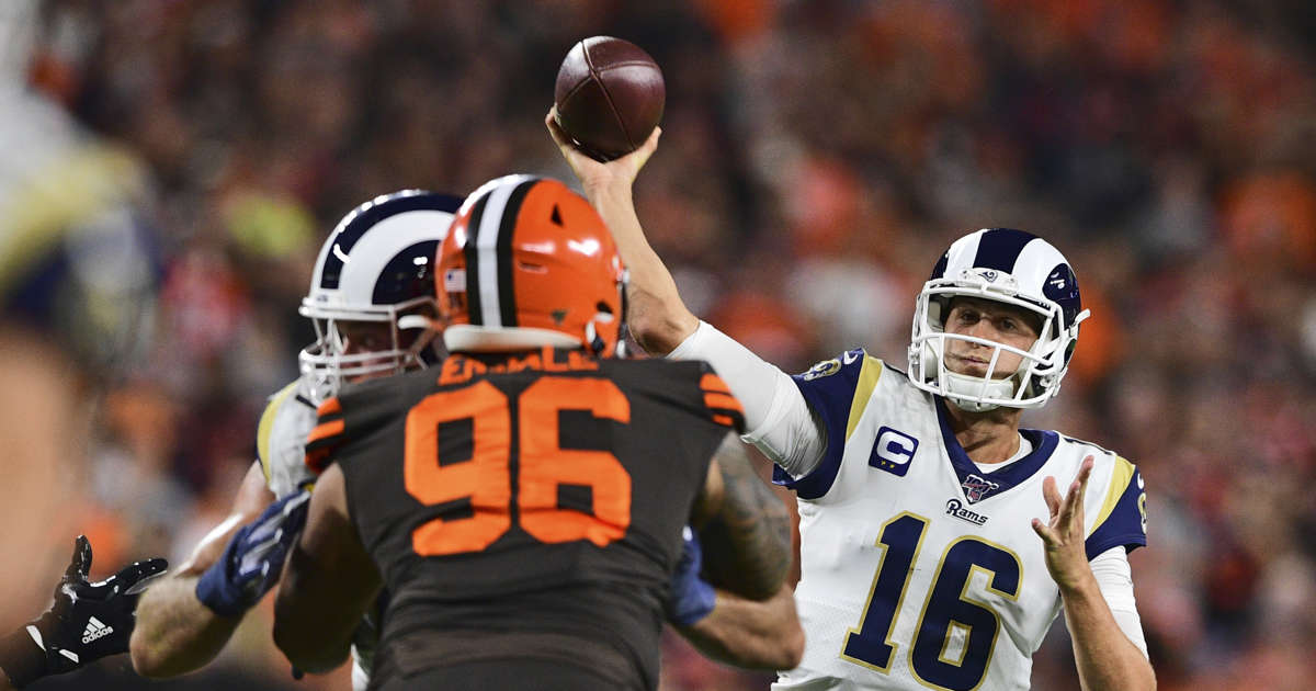 Goff, Rams hold off Browns 20-13