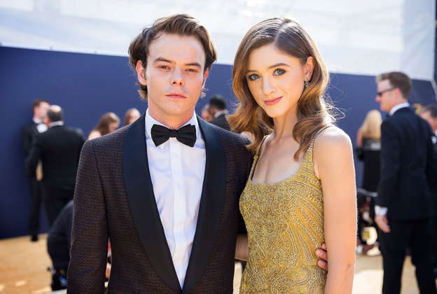 Stranger Things Star Natalia Dyer Looks Effortlessly Chic In A Plaid Jacket As She Joins Boyfriend Charlie Heaton At Dior S Pfw Afterparty