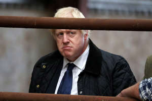 ABERDEEN, SCOTLAND - SEPTEMBER 06: British Prime Minister Boris Johnson visits Darnford Farm in Banchory near Aberdeen on September 6, 2019 in Aberdeen, Scotland. The Prime Minister travelled to Aberdeenshire visiting Peterhead fish market and a farm to coincide with the publication of Lord Bew's Review and the announcement of additional funding for Scottish farmers. He is expected to stay overnight at Balmoral with the Queen.  (Photo by Andrew Milligan - WPA Pool/Getty Images)