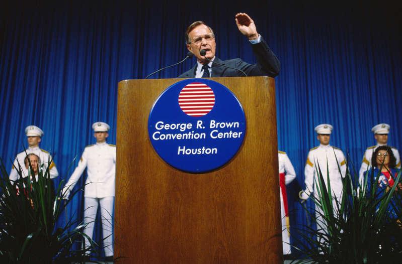 Former president Bush senior
