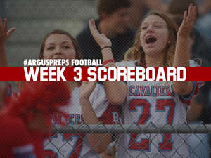 a person standing in front of a crowd: Week 3 scoreboard