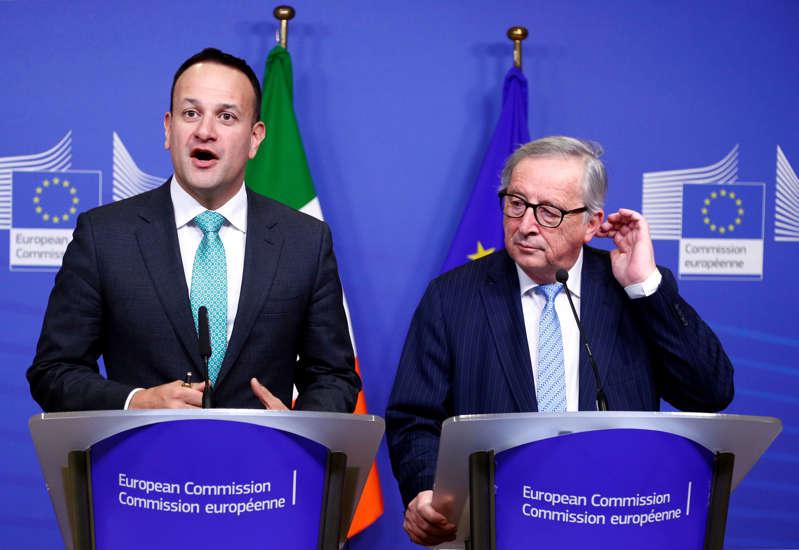 EU Commission President Jean-Claude Juncker and Irish Prime Minister Leo Varadkar