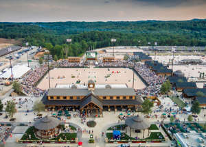 a view of a city: A picture of the 1,600-acre Tryon International Equestrian Center under construction in Polk County.