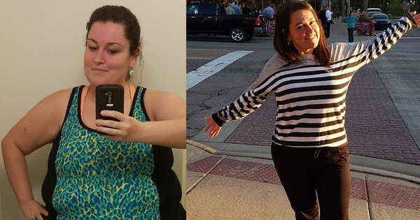 Mom who used to eat fast food every day sheds 154 lbs.