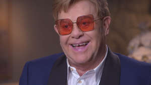 NEW YORK - OCTOBER 11: Sir Elton John during an interview for CBS SUNDAY MORNING to be broadcast Sunday, October 13, 2019 on the CBS Television Network. Image is a frame grab. (Photo by CBS via Getty Images)
