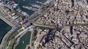 PALMA DE MALLORCA, SPAIN - NOVEMBER 2007: An aerial image of Port Of Palma De Mallorca, Palma De Mallorca (Photo by Blom UK via Getty Images)