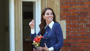 BLETCHLEY, BUCKINGHAMSHIRE, UNITED KINGDOM - 2019/05/14: Kate Middleton, Duchess of Cambridge seen leaving after her visit to the D-Day exhibition at Bletchley Park, England. (Photo by Keith Mayhew/SOPA Images/LightRocket via Getty Images)
