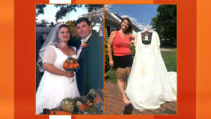 Woman who lost 185 pounds gets redo on wedding in dream dress
