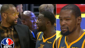 Kevin Durant et al. posing for the camera: Kevin Durant and Draymond Green had to be calmed down by their Warriors' teammates before the start of overtime in Golden State's loss to the L.A. Clippers. (1:46) Shaun Livingston downplays the scuffle.   ✔ Subscribe to NBA on ESPN on YouTube: http://bit.ly/2yxs3Og ✔ Subscribe to ESPN on YouTube: http://es.pn/SUBSCRIBEtoYOUTUBE ✔ Watch Latest Episodes on WatchESPN: http://es.pn/LatestEpisodes ✔ Watch ESPN on YouTube TV: http://es.pn/YouTubeTV  Get more ESPN Shows on YouTube: ► First Take: http://es.pn/FirstTakeonYouTube ► SC6 with Michael & Jemele: http://es.pn/SC6onYouTube ► SportsCenter with SVP: http://es/pn/SVPonYouTube  ESPN on Social Media: ► Follow on Twitter: http://www.twitter.com/espn ► Like on Facebook: http://www.facebook.com/espn ► Follow on Instagram: http://www.instagram.com/espn  Visit NBA on ESPN on YouTube to get up-to-the-minute NBA coverage, scores, highlights and commentary.  More on ESPN.com: http://www.espn.com