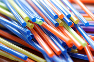 Shot Of Colorful Drinking Straws
