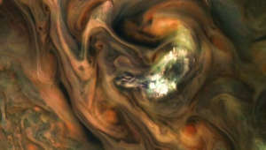 NASA spacecraft spots a strange bright spot on Jupiter