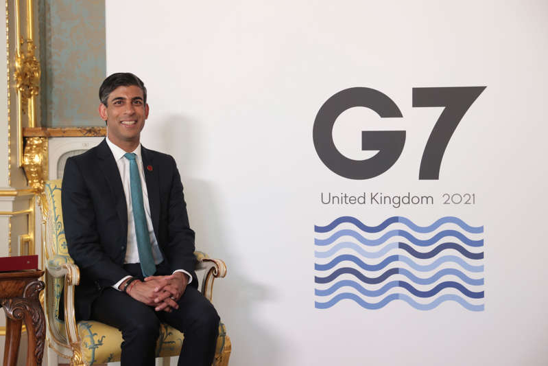 Britain's Chancellor of the Exchequer Rishi Sunak meets with International Monetary Fund (IMF) Managing Director Kristalina Georgieva (not picuted), on the eve of the G7 Finance Ministers meeting, on June 3, 2021 in London, England. (Photo by Hannah McKay-Pool/Getty Images)