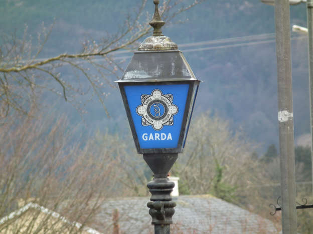 Irish Police Sign - stock photo