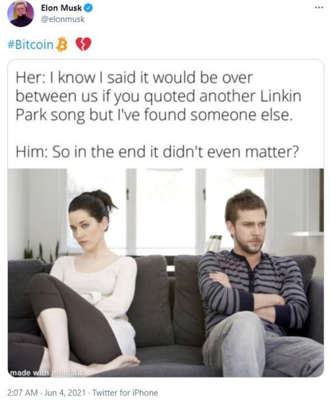 two people sitting posing for the camera: bitcoin elon musk tweet