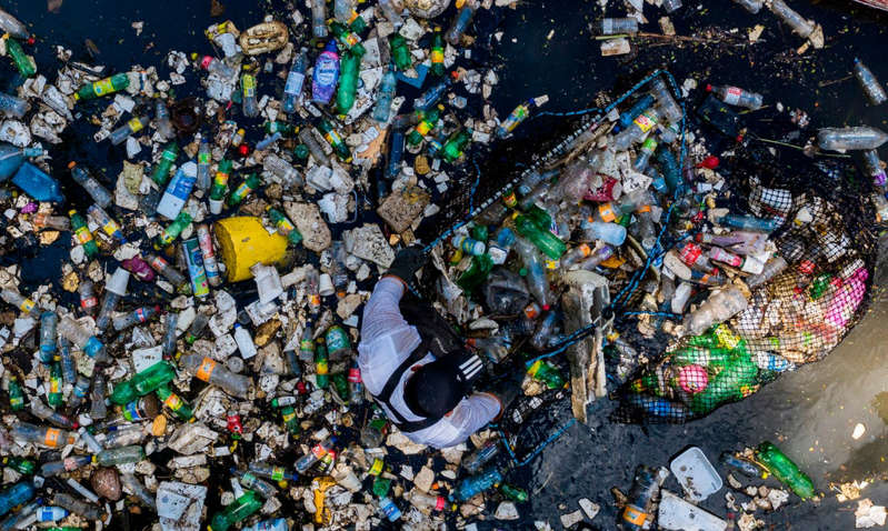 Sea of waste: By 2050, there could be more plastic than fish in the world's oceans - AFP via Getty Images