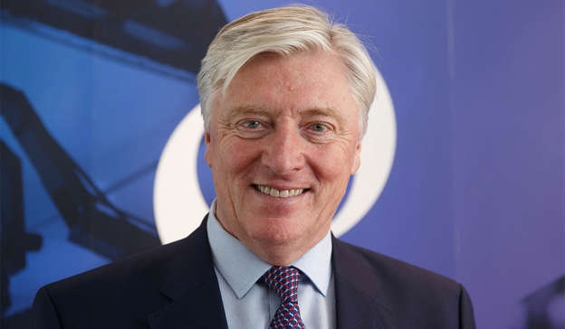 Pat Kenny wearing a suit and tie: Although Mr O Broin claimed this was normal practise, Pat continued: 'They're wearing fake badges that belong to IMRA. This is fakery.' Pic: Fran Veale