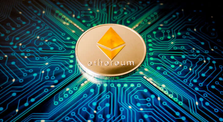 a circuit board: Another stylized version of the Ethereum logo