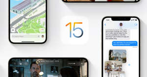 graphical user interface, application: Apple iOS 15