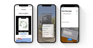 graphical user interface, application: Apple iOS 15 can identify text in photos.