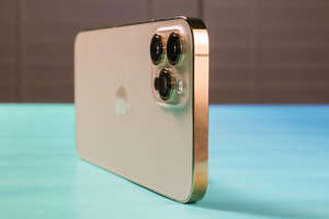 a close up of a box: The next iPhone may not have physical buttons. Sarah Tew/CNET