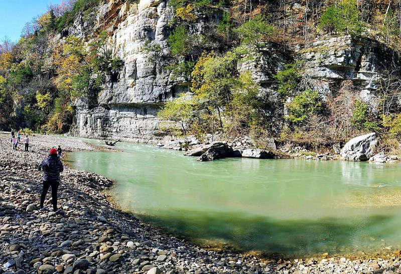 Buffalo National River, na região de Ponca - Paulo Basso Jr.