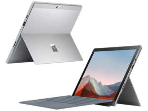 an open laptop computer sitting on top of a table: best-windows-10-surface-pro-7.jpg