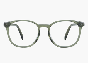 logo, company name: Warby Parker  practicing Glasses