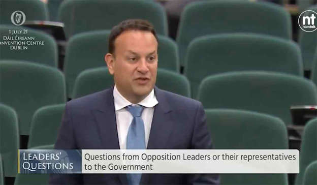 Leo Varadkar in a suit and tie sitting in a car: Text messages between Leo Varadkar and Katherine Zappone, as well as Simon Coveney, were released by the Tánaiste on Wednesday.